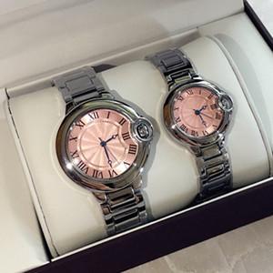 2019 Heißer Verkauf Rosa Zifferblatt Mode Dame Uhren Luxus Frauen Uhr Silber Edelstahl Armband Armbanduhren weiblichen Uhr Drop Shipping