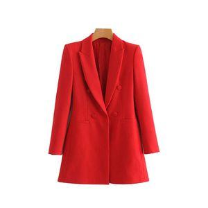 Women blazers and jackets long sleeve blazer feminino red black Korean outerwear office lady work wear Fall 2019