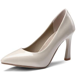 Hot2019 특허 여성의 가죽 하이힐 Sharp Will Woman 40-48 Shallowly Single Single Shoe 204