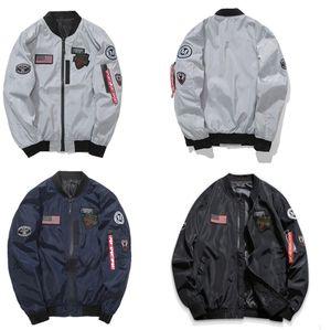 Nueva ropa de hombre primavera otoño delgado NASA Navy chaqueta voladora hombre varsity american college bomber flight jacket para hombre chaqueta XXXXL