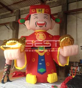 Cinese personaggio dei cartoni animati soldi dei cartoni animati dio gonfiabile della fortuna, Dio gonfiabile di ricchezza per decorazione di nuovo anno