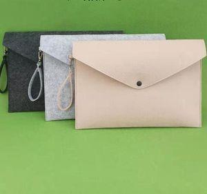 Felt File Folder Documents Envelope Office Briefcase Document Bag Paper Portfolio Case Letter Envelope A4 Folders Filing Supplies GGA3122-3