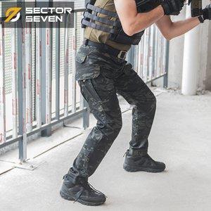 Sector Sete IX2 militar multi Pockets calças da carga escuro camuflagem calças táticas regulares ativo dos homens Calças MX200323