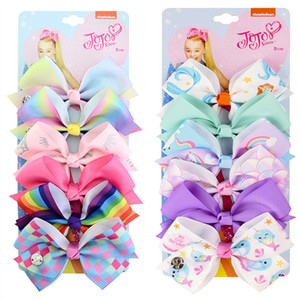 5inch Siwa Hair Bow arc Unicorn cheveux clip Baby Girl bowknot Hairclip ruban Knot Barrettes filles Hairpin Accessoires cheveux Meilleur