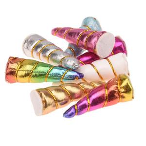 135pcs Boutique 5.5cm-6cm Unicorn Horn accesorios lindos del pelo clips unicornio diadema No Cabello arcos de pelo elegante Headwear Headwrap