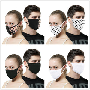 Luxury Designer Leopard Splice Masque de protection Masque UV-résistant à la poussière d'équitation Sports Cyclisme Imprimer Masques Femmes bouche en plein air