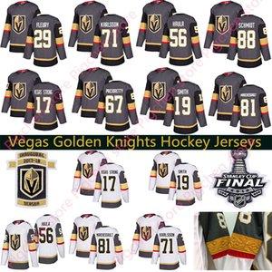 Vegas Golden Knights Jersey 29 Marc-André Fleury 67 Max Pacioretty 56 Erik Haula Nate Schmidt Hockey Hommes Femmes jeunes 2018 Finales de la Coupe Stanley