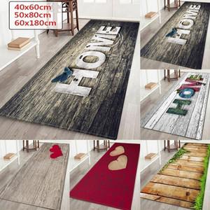 """Wujie Fashion """"Home"""" Stampato Tappeto a pavimento in legno Stampato per soggiorno Lavabile Camera da letto Tappetino per la casa Decor Cucina Cucina Tappeto Benvenuto Mat Y200527"""