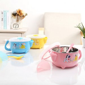 Food Warming Bowl Water Injection Insulation Bowl Baby Dishes Dinnerware Tableware Food Container Stainless Steel Hot and Cold