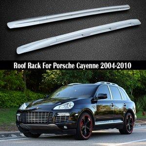 Barres de toit pour Porsche Cayenne 2004-2010 Porte-bagages Rails porte-bagages Bar Bars haut Racks Boîtes rail en alliage d'aluminium