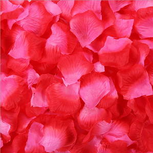Valentine lover party table carpet confetti decoration 100pcs   bag wedding artificial flower petals romantic rose petal wedding
