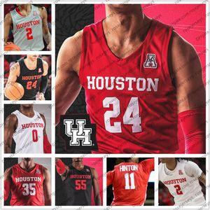 Costumbre Houston Cougars 2020 NCAA de baloncesto # 2 Caleb Mills 24 Quentin Grimes 3 DeJon Jarreau 11 Nate Hinton Hombres Jóvenes Kid jerseys 4XL