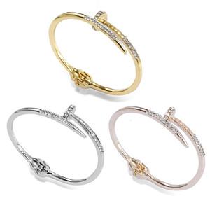 Nueva moda Nail Love Bangles joyería para mujeres Femme Pulseira Feminina Nail Charm Bracelets envío gratis
