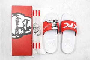 2020 Sıcak KFC SANDALBOYZ Onur Endonezya Fried Chicken Colonel Sanders Jagonya Ayam Erkekler Kadınlar Terlik Yaz Eur 36-45 x