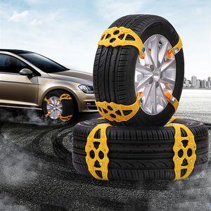 자동차 타이어 겨울 도로 안전 타이어 눈 조정 가능한 미끄럼 방지 안전 더블 스냅 스키드 휠 TPU 체인