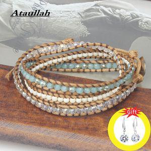 Ataullah Multicouche Bracelet Bracelets Pierre Naturelle Tressé Bracelets Perles Cristal À La Main Bijoux Pour Femme Cadeau BW016NS2