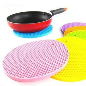 Silicone Non-slip Mat Pure Color Heat Resistant Mat Candy Color Thickened Casserole Mats Other Bakeware WY319