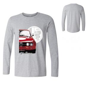 Alfa Romeo Unico in grado di auto Fans Magliette Mens casual a maniche lunghe T-shirt tee uomini di marca all'aperto Escursionismo Fitness pullover in cotone maglietta
