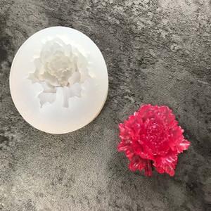 Moule en silicone Rose 3D Sugarcraft résine polymère argile Plâtre Moule Charms Bijoux bricolage