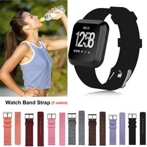 HOT Watchband Smart Watch Canvas Strap Lite Correa de nylon para hombres y mujeres para Fitbit Versa 2, versa lite