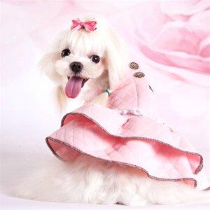 البوليستر عالية الجودة الكلب الملابس الجديدة أزياء جميلة مزدوجة موجة فستان الأميرة للشركات الصغيرة والمتوسطة جرو كلب مستلزمات الحيوانات الأليفة