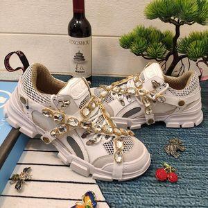Hitze der neuen Männer der Frauen Flashtrek Sneaker mit abnehmbaren Kristallen Luxus-Designer-Schuhe der Frauen Sportschuhe Unisex Art und Weise beiläufige