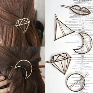 Элегантная женщина Hollow Шпилька металла дамы 20 Стили Hailr Clips Девушки Unicorn Геометрическая форма Barrettes волос партии Accseeories TTA-1067