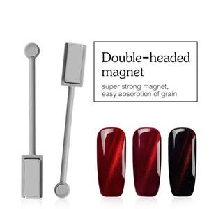 Ellwings 3D DIY Doppelkopf Magnet-Maniküre-Werkzeugs für Cat Eye UVnagellack starkes magnetisches Gel Lack Nail Design