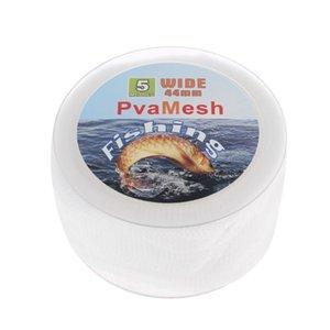 5m PVA solubile Rete da pesca Refill Stocking Feeder Trappola Bait Bag Proteggere a rete
