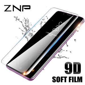 ZNP 9D Curved Soft Film For Samsung Galaxy S8 S9 Screen Protector Note 9 8 S7 Edge Not Glass For Samsung S9 Plus Protection Film