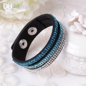 Il braccialetto di cuoio All'ingrosso-2015 di vendita calda di nuovo modo di 6 strati! Prezzi scontati di fabbrica, braccialetto di fascino, bracciali per le donne