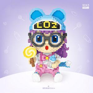 LOZ menina dos desenhos animados, McDon Boneca do palhaço de Building Blocks, Mini DIY Monte brinquedo educativo, Ornamento para Kid Xmas presente de aniversário, recolher 2-1