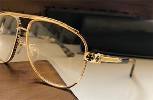 nuevos hombres de la marca de vidrios ópticos diseñador de gafas de calidad superior cuadrada gafas con montura de metal lente estilo HD con el caso original
