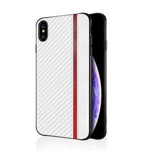 Pour Iphone xs max xr x 8 7 6 plus téléphone cellulaire TPU porte-béquille caché pour Samsung S10 S9 S8 E Lite Plus NOTE 8 9 couvercle de la fibre de carbone