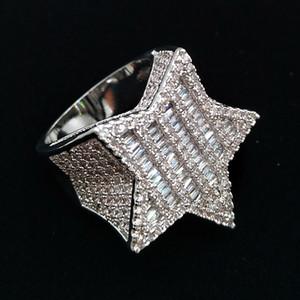 الذهب 18K الذهب الأبيض الرجال بلينغ جديدة زركون الخماسي الهيب هوب حزام الرجال الماس كامل مثلج خارج مغني الراب مجوهرات هدايا لصديقها