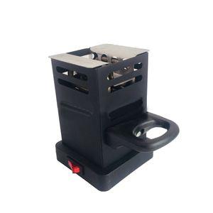 Black Shisha Hookah Charcoal Stove Heater Mini Square Charcoal Oven Hot Plate Coal Burner Pipes Accessories With EU Plug J05