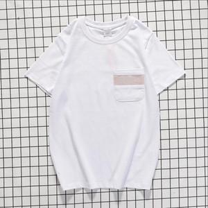 2020 Toptan Su P Yaz Pamuk Lüks Kısa Kollu Tişört Erkek Tasarımcı tişört Unisex Sokak Moda Marka tişört