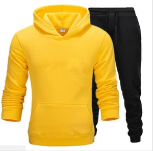 2019 Sportswear Tracksuit Sets Men Men Thermal Underwear Fleece Thick Hoodie+pants letter Printed Sporting Suit Plus Size S-3XL