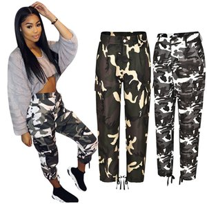 New Women's Trousers Personality Solid Color Casual Pants Camouflage Printed Workwear Sports Fashion Slim Wide-leg Pants S-5XL