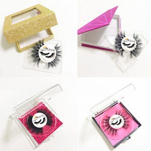 Círculo de la etiqueta privada y Modelos de Customzied privada engomada de papel Logo (Se utiliza para Mink pestañas naturales 3D Mink pestañas pestañas postizas)