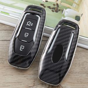 araba anahtarı Vaka İçin Ford Mustang Odak 2 3 4 odak mk2 mk3 mondeo mk3 mondeo mk4 Mustang Uzaktan 3 Düğmeler Kapak Shell çanta karbon