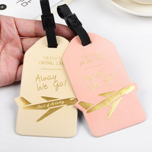 20pcs Travel Accessories Luggage Tags Airplane Printing Pu Suitcase ID Addres Holder Baggage Bag Part