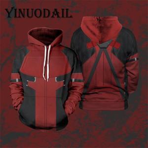 Fans Wear Winter Sweatshirt Cosplay Costume Hoodie Deadpool 3D Printed Long Sleeve Casual Tops for Men Y200519