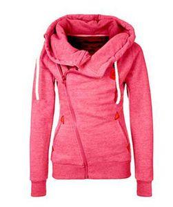 Wholesale Women's Explosion New European and American Sweatshirt Cardigan Side Zipper Hooded Sweater Jacket