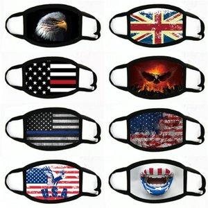 Kinder wiederverwendbare Unisex Baumwolle Gesichtsmasken Ventil PM2.5 Stoffmaske Waschbar Maske mit Filter Designer Printed Gesichtsmaske Free # 778