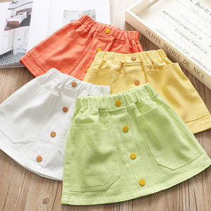 New arrived 2020 Candy Color Girls Skirts Fashion Kids Skirt Girls A-Line Skirts Kids Pencil Skirts kids  clothes girls B116