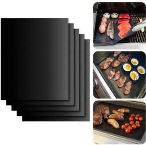 Yapışmaz Barbekü Grill Mat Kalın Dayanıklı 33 * 40CM Gaz mangal barbekü mat Yeniden kullanılabilir No Çubuk Barbekü Grill Mat Sac Piknik Aracı Pişirme