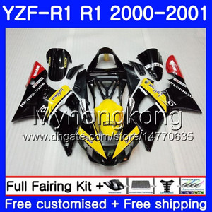YAMAHA YZF 1000 YZF R 1 YZF-1000 YZFR1 00 01 Gövde 236HM.23 YZF-R1 00 01 Kaporta YZF1000 YZF R1 Sarı siyah sıcak 2000 2001 Fairing