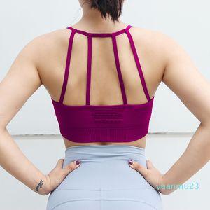 fashion-Sports underwear beauty back yoga fitness bra sling backless sexy yoga bra women top sports shirt wear for women