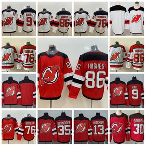 86 Troisième chandail de Jack Hughes New Jersey Devils 76 P.K. Subban Nico Hischier Taylor Hall Cory Schneider Martin Brodeur EN STOCK Stiched